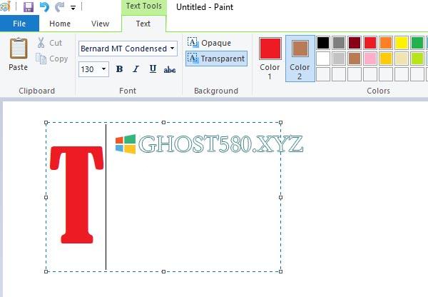 如何在Win10中的Microsoft Paint中添加文本和更改字�w�色