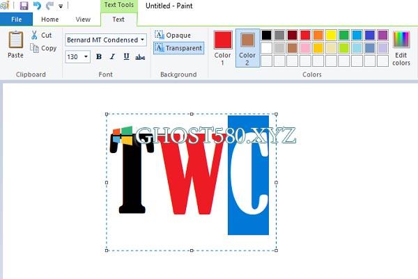 Windows 10:如何更改MS Paint中文本的颜色