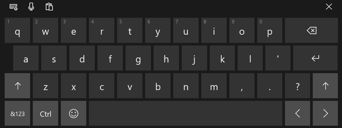 如何在Win10中启用完整的触摸键盘布局