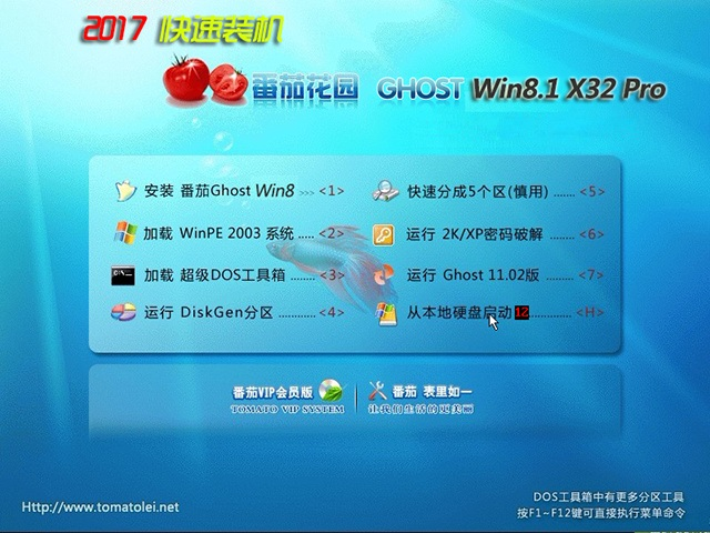 番茄花园Ghost Win8.1 X32龙8娱乐V2017