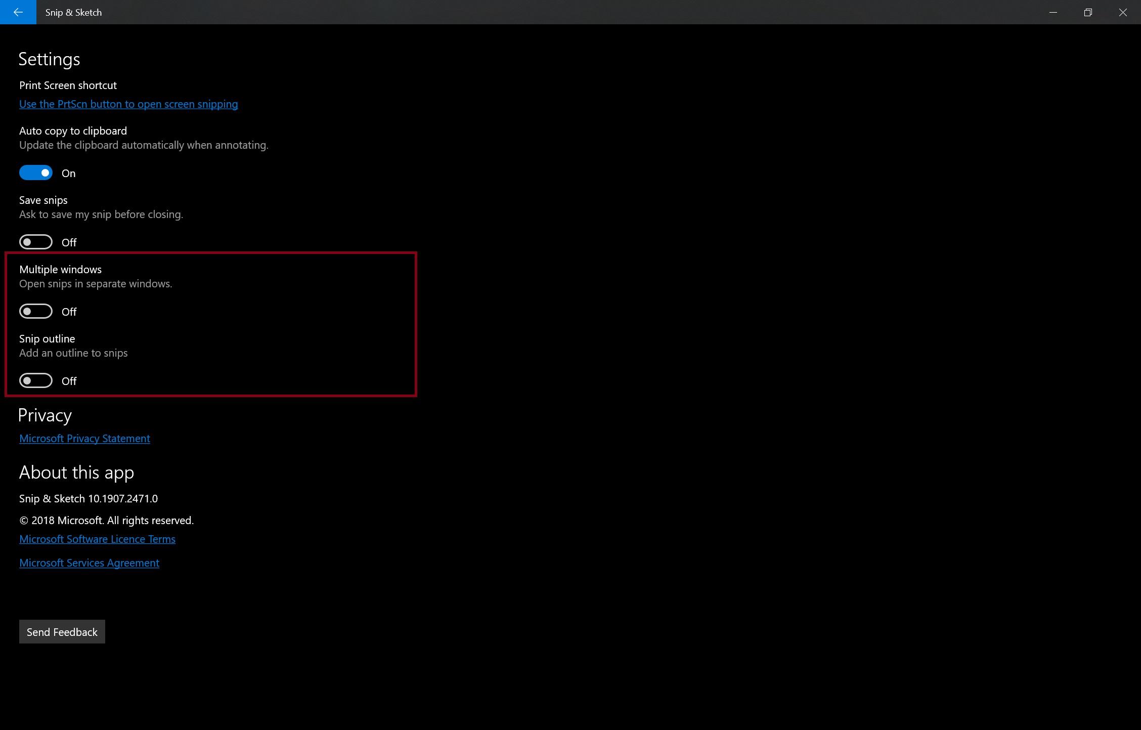 Win10的Snip and Sketch已更新,支持多个窗口,缩放等