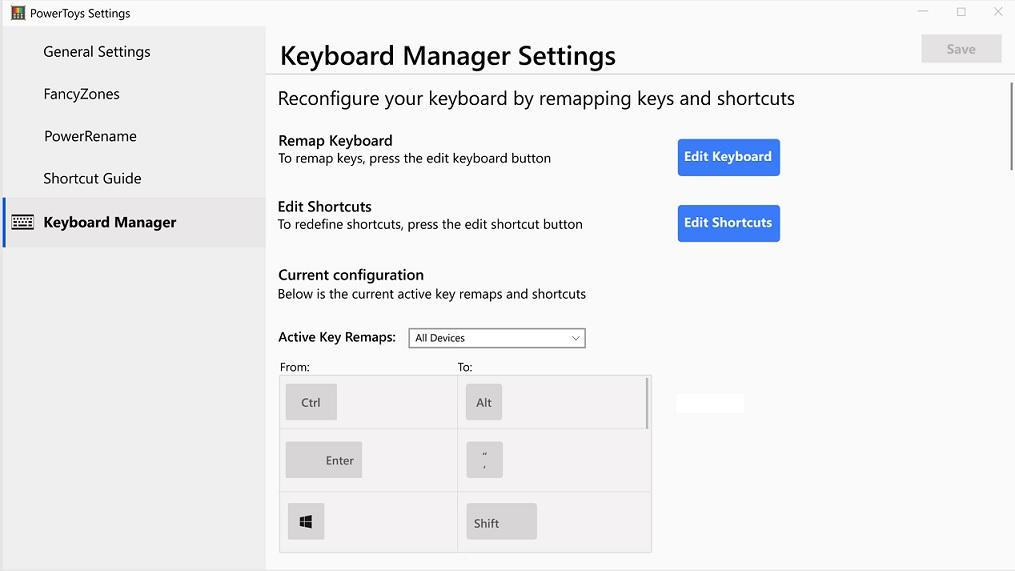 微软正在为Windows 10开发键盘管理器